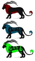 Demon Lions Closed by Leland-Adopts