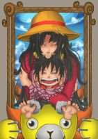 Boa hancock and mini luffy by senturi
