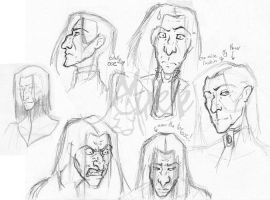 Some MOAR Snape Faces by Murielle