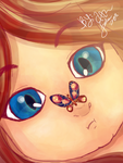 Artwork :: Cute Girl - Dreamy - Butterfly by Art-an