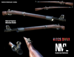 Ross Rifle MkIII Test Render by themadgrenadier99