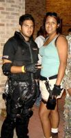 Chris Redfield and Lara Croft by polkadotkat