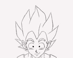 Happy Vegeta by Gothax