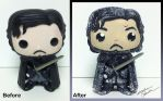 Jon Snow Funko Pop Custom by StephanieCassataArt