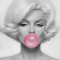 Marilyn Monroe Bubblegum by the-ArtGod