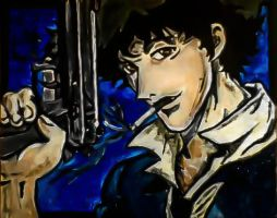 Spike Spiegel Painted by thrashingshadow167
