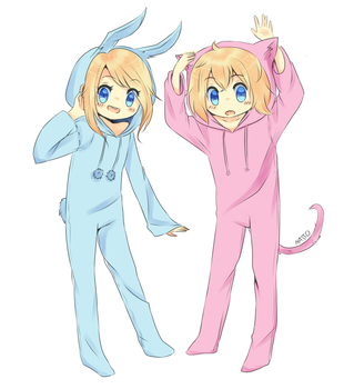 Finn and Fionna (Colored) by LouCuack