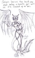 Comic Expo Sketch 2 - Jelyan by Kenthayle