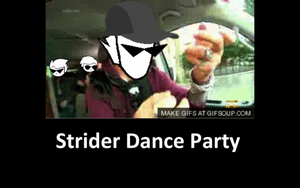 Strider Dance Party GIF by luckydogfangirl01