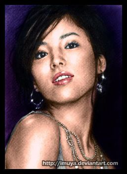 colored 4th Song Hye Kyo by imuya