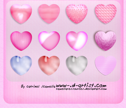 Pink photoshop layer styles 3 by cameliaRessources