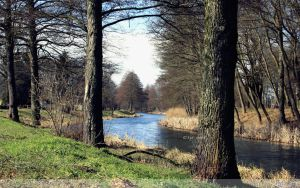 Spring on the Canal Wallpaper by Clu-art