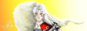 Sesshomaru by kitsunefire7
