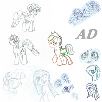 Stallions Sketch N12 [MY LITTLE PONY] RULE 63 by AD-Laimi