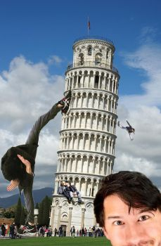 Mark took over the leaning tower of Pisa by JaywasaBlindPir8