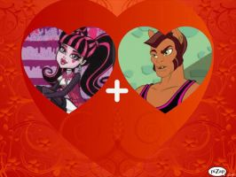 monster high draculaura and clawd by sarahthevampireteen