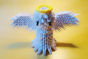 Origami 3D Angel by IDEAndo-art