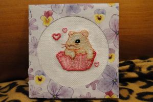 Cupcake hamster Christmas/New Year card by Thriin