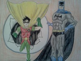 GOLDEN AGE BATMAN AND ROBIN NEVER LOOKED SO RETRO by Kongzilla2010