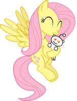Fluttershy loves Snoo by uxyd