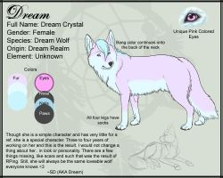 Character Sheet: Dream by SD-DreamCrystal