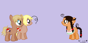 Colt America and Canada Meet Filly Mexico by HippieUnicornFlower