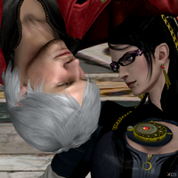 Dante vs Bayonetta Demon Hunter vs Witch by Hatredboy