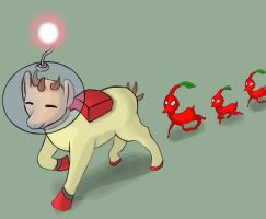Captain Olimar Pony by Reashi