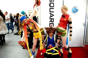 Rikku, Sora, Rikku and Square Enix by NomesCosplay
