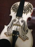 Violin Pyrography Project (3/4 progess) by DC-Pyrography