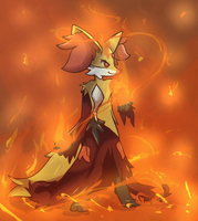 Delphox used Fire Spin by BlazingCobalt