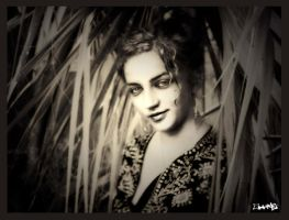 Under the palm leaves by aMorle