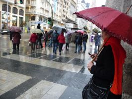 umbrellas in Gran Via by Rikitza