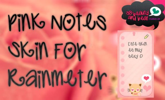 Pink Notes Skin For Rainmeter by SoBeautyAndBeat
