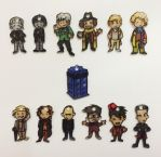 12 Doctors TARDIS charms by Lovelyruthie