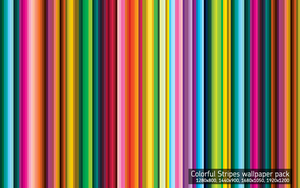 Colorful Stripes Wallpaper by linuslundahl