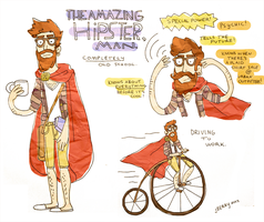 THE AMAZING HIPSTER, man by berrynerdy