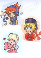 Twewy Sketches by lollypop071