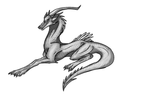Dragon lay down pose by Annatiger1234