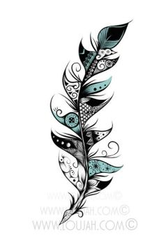 Poetic Feather by LouJah