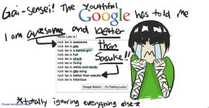 Google This - Rock Lee is... by GoldenDragonClouds