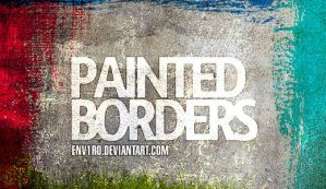 GIMP Painted Borders Brushes by Graphicclouds