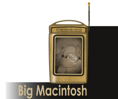 my little bioshock - Big Macintosh message icon by MetaDragonArt