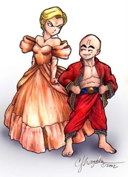 The Krillin and 18 by MommySpike