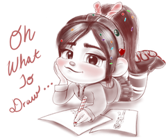 Vanellope - Let's Draw Somethin' by artistsncoffeeshops