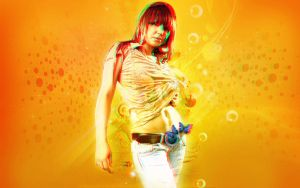 Yellow Beauty 3D Anaglyph by CaCaDoo