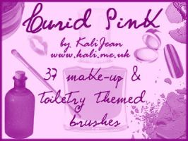 Lurid Pink: Toiletry Brushes by kalijean