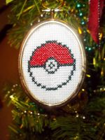 Pokeball Ornament by backstagestiches