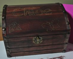 Chloe's Tinkerbell Jewelry Box- 1 of 2 Views by disturbeddragon