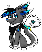 Hey Look At My Tail! .:Point Commish:. by SnownightTheCat